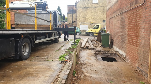 Underground steel tank removal in St. Albans